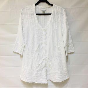 Soft Surroundings White Tunic Top